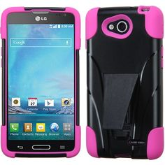 MYBAT Inverse Armor Stand Case for LG Optimus L90 - Hot Pink