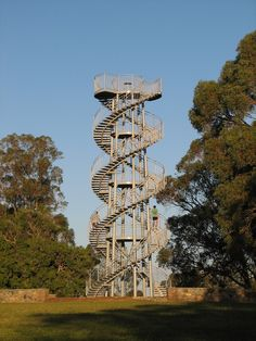 A lookout tower at the highest point of King's Park in Perth, in the shape of a double helix.