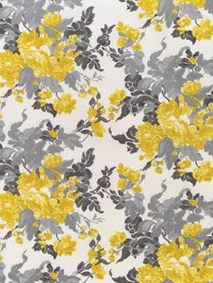 Yellow And Gray Floral Pattern 1000+ images about Col...