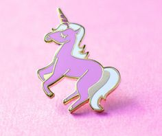An utterly perfect unicorn pin, that will definitely add a little magic to your life.