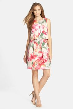 Eliza J | Floral Popover Sleeveless Sheath Dress | Nordstrom Rack