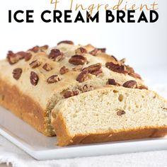 4 Ingredient Ice Cream Bread