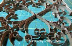Faux en métal d'art de mur / Suzys Artsy craftsy Sitcom # recyclage # # artisanat d'art de mur # diy