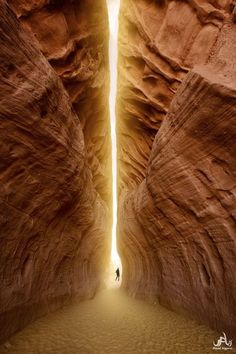 """Tunnel of Light"" near Page, Arizona"