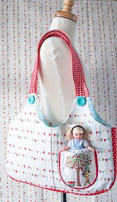 The Ruby Lou Bag - Free Patterning and Sewing Tutorial by Melissa Mortenson