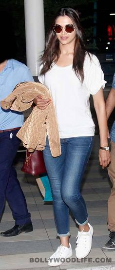 Deepika ♥ Simple Outfits, Casual Outfits, Girl Outfits, Fashion Outfits, Womens Fashion, Fashion Trends, Bollywood Fashion, Bollywood Actress, Lengha Blouse Designs