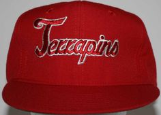 NCAA UNIV. OF MARYLAND TERRAPINS 1980s/90s EMBROIDERED CAP (Rare)  #UniversalIndustriesInc #UniversityofMarylandTerrapins