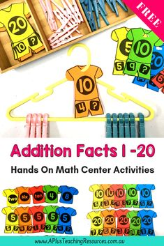Try these hands on addition activities if you need to build fluency or develop addition and subtraction strategies with your kids. There's so many ideas for Kindergarten, grade 1 and more. Fun games, worksheets and ideas to make teaching & learning the properties of addition & subtraction a breeze. Visit our website for printables! #teachingmath #teaching