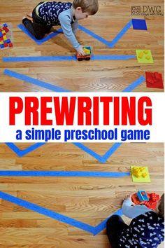 Prewriting activities for preschool. Learning from an early age. #prewriting #learningactivities #kidslearning #kidsactivities