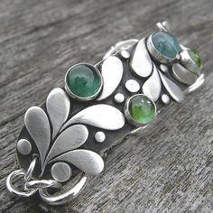 Jubilation in the Key of Green Bracelet Sterling by westbyron, $248.00