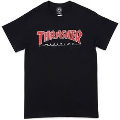57076dab9b5 Buy Thrasher Outlined T-Shirt Black at the longboard shop in The Hague