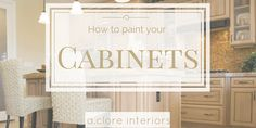 Instead of replacing all of your cabinets, just give the original ones a fresh coat of paint!
