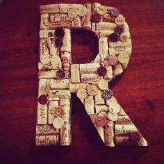 Hand Crafted Wine Cork Letters Made to Order by HoneyBeeArtistry, $50.00