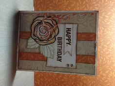 Birthday card made with ctmh flirty paper and love blooms stamp set