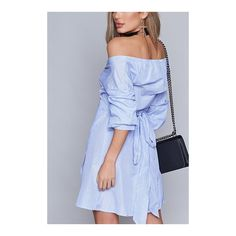 Yoins Light Blue Mini Dress With Strapless Design ($21) ❤ liked on Polyvore featuring dresses, longsleeve dress, blue long sleeve dress, blue mini dress, strapless mini dress and strapless dress