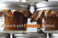 Crock-Pot Pumpkin Butter Recipe - easy to make, perfect for gift giving!