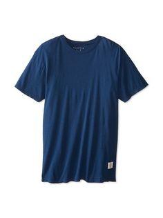 38% OFF Kinetix Men's Pima Crew Neck T-Shirt (Navy)