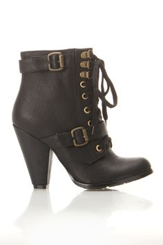 Lace Up Winter Booties $40....oh how I wish I had the money to get me a pair. These are awesome!