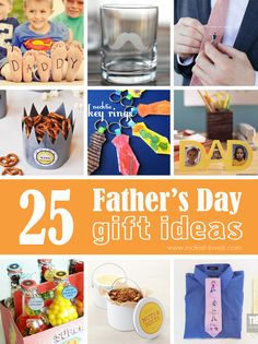 25 Handmade Father's Day Gift Ideas...time to spoil dad! --- Make It and Love It