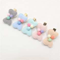 20pcs/lot Mini Bow Baby Hair Clip Pastel Pink Mint Two Layer Hair Bow Barrette…