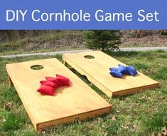 DIY Cornhole Game Set...http://homestead-and-survival.com/diy-cornhole-game-set/