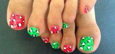 unas decoradas pies, toes nail design