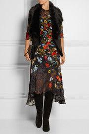 Preen by Thornton BregazziLambert printed devoré-chiffon midi dress