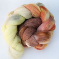 Omber Gradient Polwarth Wool Spinning Fiber, 4 oz Dyed to Order, Today's High