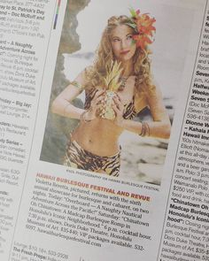 Seen! Violetta Beretta for the Hawaii Burlesque Festival in today's @staradvertiser #tgif section! See you this evening for night 1 of 2 at the Doris Duke Theater!  It's a Happy Aloha Friday indeed!  Photo by @kndl_photography #hawaiiburlesquefestival #burlesquefestival #hawaiiburlesque #violettaberetta #TGIF #staradvertisertgif #happyalohafriday