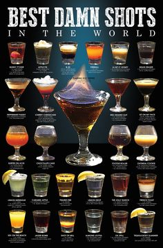 Wow your guests with one of these delicious easy party cocktail recipes. Here are 50 of the best cocktails perfect for any event or party. Liquor Drinks, Cocktail Drinks, Beverages, Bourbon Drinks, Disney Cocktails, Liquor Shots, Beverage Bars, Whiskey Shots, Tequila Drinks