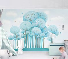 Mural 3D Forest Wallpaper For Kid room  Price: 76.80 & FREE Shipping  #Piercing #Bags #Hair