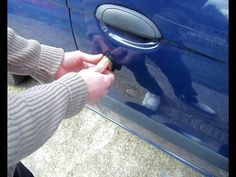 How to unlock a car with a string (this really works) - YouTube