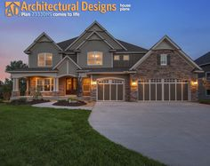 Exclusive House Plan 73330HS - view of the front  House Plan Link: http://www.architecturaldesigns.com/house-plan-73330HS.asp