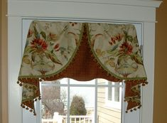 for kitchen window image detail for custom window treatment - Kitchen Window Valances