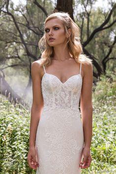 limor rosen 2017 bridal spagetti strap sweetheart neckline full embellishment lace elegant mermaid wedding dress scoop back chapel train (holly) zv