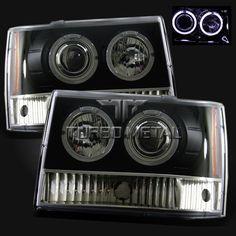 93 94 95 96 97 98 Jeep Grand Cherokee Halo Projector Headlights Black