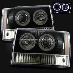 93 94 95 96 97 98 Jeep Grand Cherokee Halo Projector Headlights Black