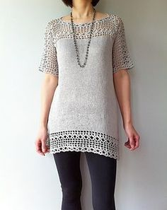 Julia: Floral Lace Tunic, Knit & Crochet: pattern for purchase