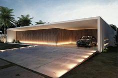 Fachadas de casas brancas minimalistas - veja modelos lindos!