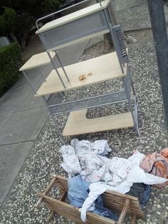 You can always tell when it's the end of the month in downtown San Jose. People are moving out, throwing their stuff onto the curbs.