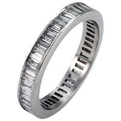 Baguette Diamond Platinum Eternity Ring