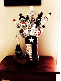 Happy 21st Birthday! Saw this idea as a pin, did it for my niece's 21 in a more fabulous way, TEXAS style!!!