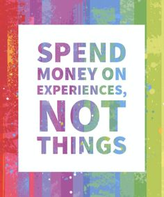 Trying to decide what to spend your money on? Science says you'll be a lot happier if you prioritize experiences instead of things. Spiritual Quotes, Positive Quotes, Cruise Quotes, Quotes To Live By, Life Quotes, Experience Quotes, Anxiety Problems, My Motto, Affirmation Cards