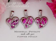 From Flower Petals to Flower Petal Infused Pendants! These Straight from the Heart Pendants are custom made in the USA! #Love