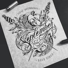 September lettering