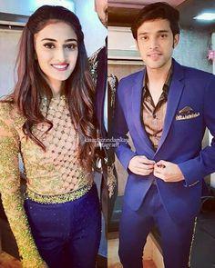 Blue Shirt Outfit Men, Cute Celebrities, Celebs, Arjun Bijlani, Erica Fernandes, Indian Tv Actress, Tv Actors, Bollywood Stars, Beautiful Couple