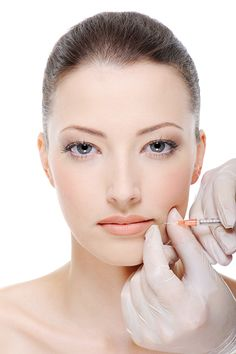 Care of woman face. Injection of botox on female lips - female portrait , Cheek Fillers, Botox Fillers, Dermal Fillers, Hyaluron Filler, Hyaluronic Acid Fillers, Female Lips, Facial Skin Care, Skin Makeup, Plastic Surgery