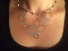 Temporary glitter tattoo necklace by #LaineToo