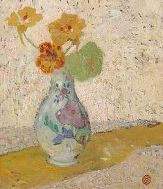 Three Flowers in a Vase - Gustave de Smet