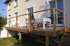Garde corps bois inox pour ma terrasse